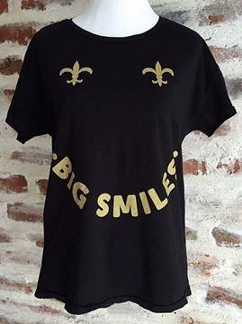 """Big Smiles"" Rocker Garment Dyed Short Sleeve Tee"