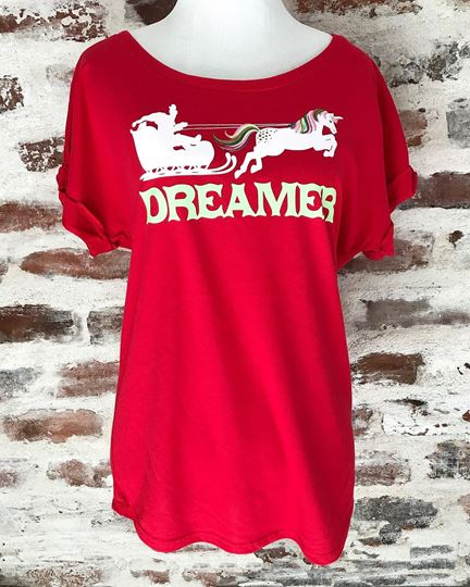Dreamer Santa Ladies' Roll Sleeve Dolman