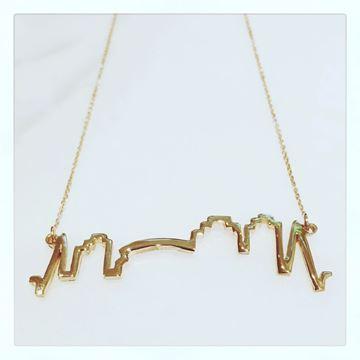 """NOLA Skyline"" Gold Vermeil Charm Necklace"