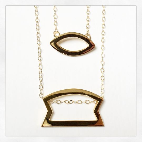 """Sunday"" Gold Vermeil Necklace"