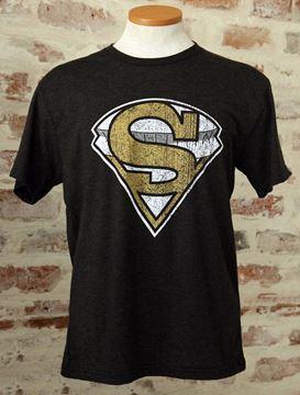 """SuperDome"" Unisex Tri-Blend Black Crew Neck Tee"