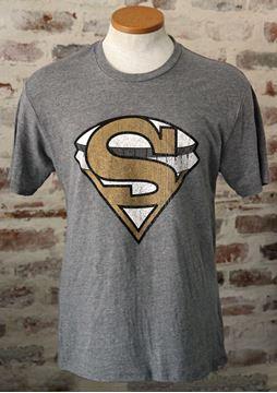 """SuperDome"" Unisex Tri-Blend Gray Crew Neck Tee"