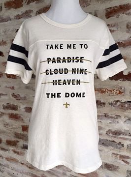 """Take Me to the Dome"" Football Short Sleeve Tee"