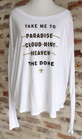 """Take Me to the Dome"" Ladies' Flowy Long-Sleeve Tee"