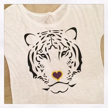 Tiger Love Ladies' Short Sleeve Slouchy Tee