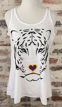 """Tiger Love"" Women's Flowy Racerback Tank Top"