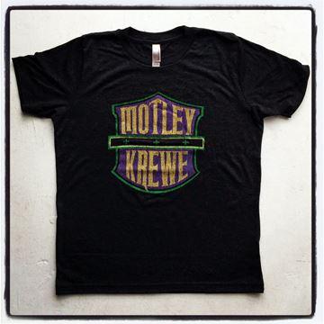 Motley Krewe Vintage Black Tri-Blend Kid's Short Sleeve Tee