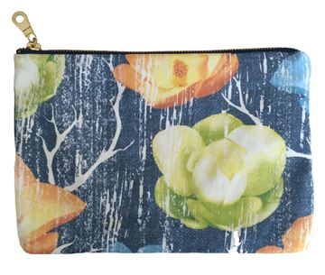 Spring Magnolia Floral Printed Canvas Pouch