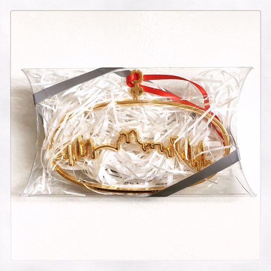 NOLA Skyline Gold Plated Christmas Ornament