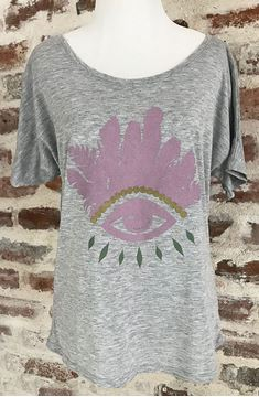"""Evil Eye"" Women's Short Sleeve Slouchy Tee"