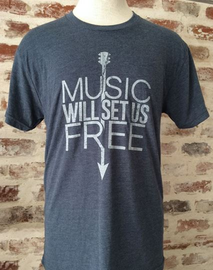 Music Will Set Us Free Unisex Tri-Blend Crew Neck Tee