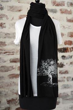 NOLA Love (Carved Oak Tree) Black Scarf