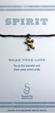 Local New Orleans High Schools - Red Linen String Braclet