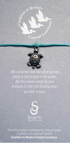 Sea Turtle Turquoise Linen String Bracelet