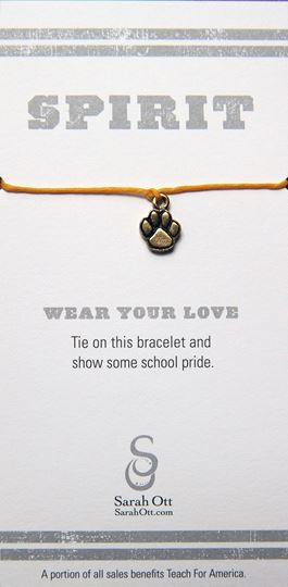 Tiger Paw Gold String Bracelet