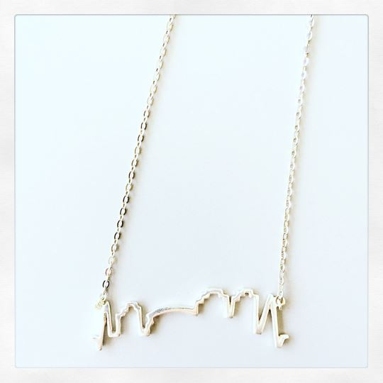 NOLA Skyline Sterling Silver Charm Necklace
