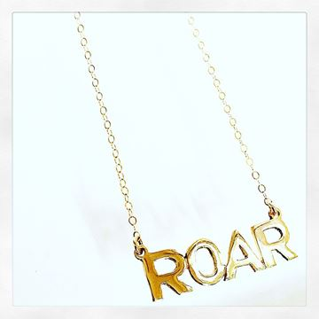 """ROAR"" 10KY Gold Charm Necklace"