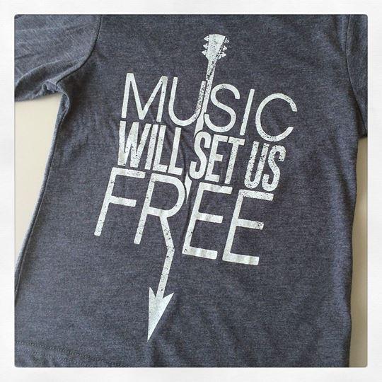 Music Will Set Us Free Kid's Short Sleeve Tee