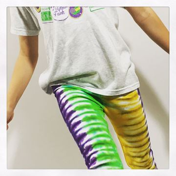 """Mardi Gras Tie-Dye"" Ladies Leggings"