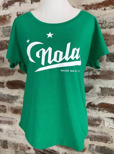 """NOLA Made Me Do It"" Ladies Tri-Blend Dolman Tee"