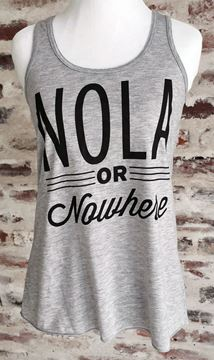 NOLA or Nowhere Women's Flowy Racerback Tank Top