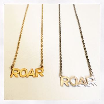 ROAR Sterl Silver or Gold Vermeil Charm Necklace