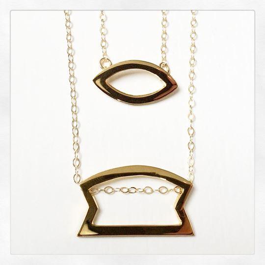 """Sunday"" Gold Vermeil Necklace"