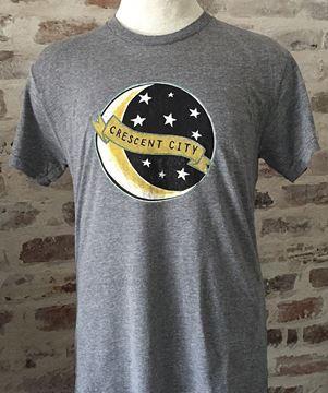 Crescent City Unisex Tri-Blend Gray Crew Neck Tee