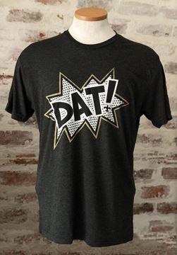 """DAT!"" Unisex Tri-Blend Black Crew Neck Tee"
