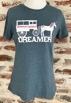 """Dreamer"" Ladies' Relaxed Jersey Short Sleeve crew-neck Tee"