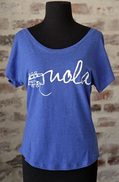 NOLA Strings Ladies' Vintage Royal Tri-Blend Dolman Tee