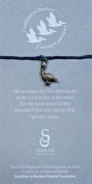 Pelican Royal Blue Linen String Bracelet