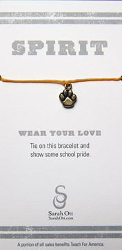 Tiger Paw Gold String Bracelet