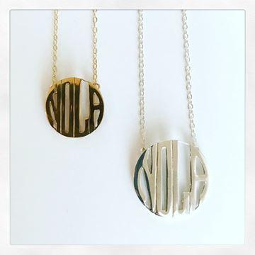 """NOLA Monogram"" Charm Necklace"
