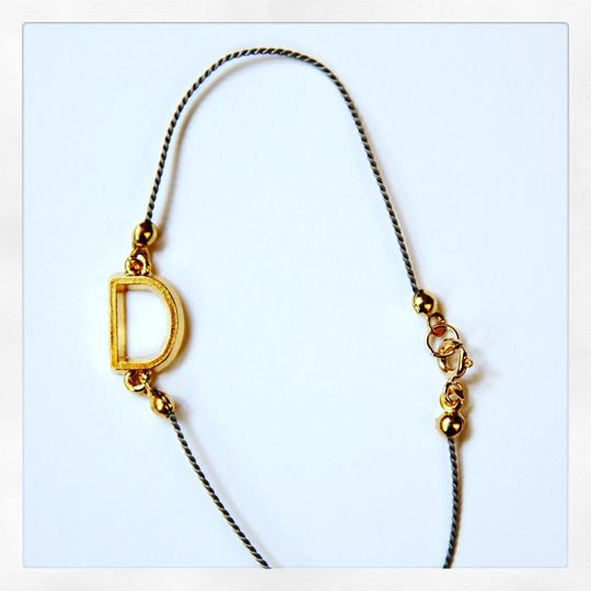 Alpha Line Charm Bracelet