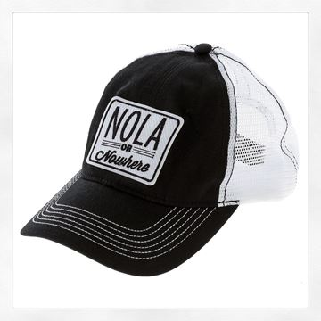 NOLA or Nowhere Black Cotton Twil Hat