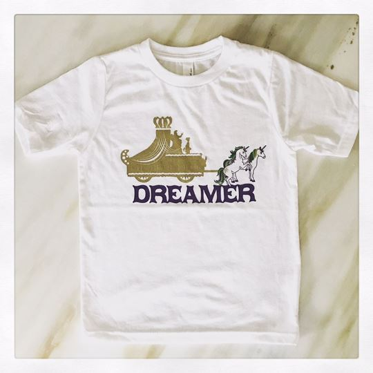 """Mardi Gras Dreamer"" Kid's Short Sleeve Tee"