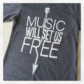 Music Will Set Us Free Kid's Short Sleeve Tee