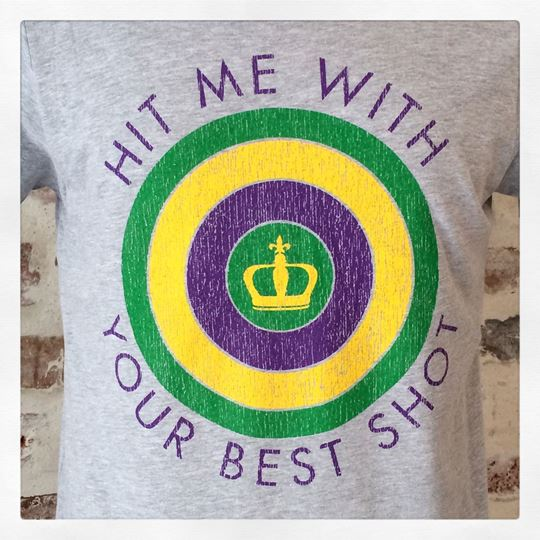 Hit Me With Your Best Shot Heather Gray Kid's Short Sleeve Tee