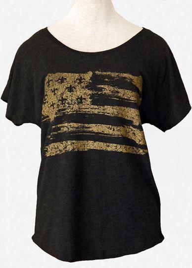Picture of Gold Fleur De Lis Flag Black