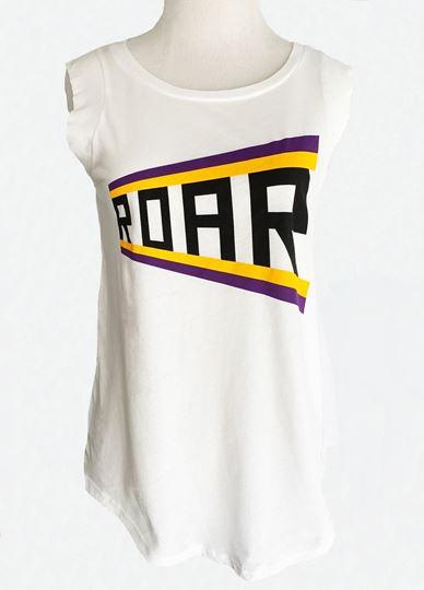 Picture of ROAR Purple & Gold! White