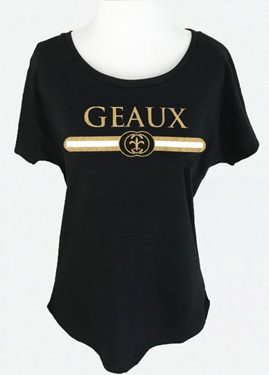 Picture of Geaux Black & Gold Dolman